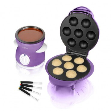 Popcake maker and chocolate fondue dual pack