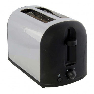 2 slice brushed stainless steel toaster