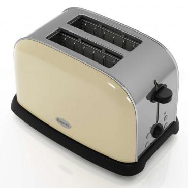 Cream 2 slice toaster