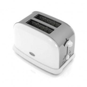 White 2 slice toaster