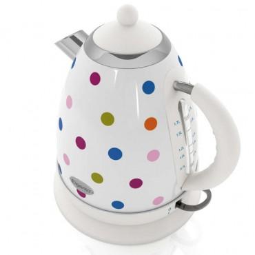 1.7 litre polka jug kettle