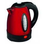1.7 litre stainless steel and red kettle