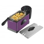 3 litre stainless steel fryer - plum
