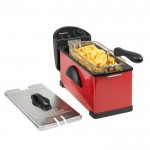 3 litre stainless steel fryer - red