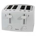 4 slice white toaster