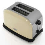Cream 2 slice toaster