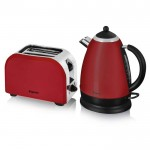Red kettle and toaster twin pack