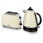 Cream kettle and toaster gift pack